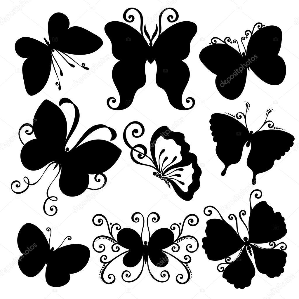 Plantillas De Mariposas Coloridas Conjunto De Vectores De