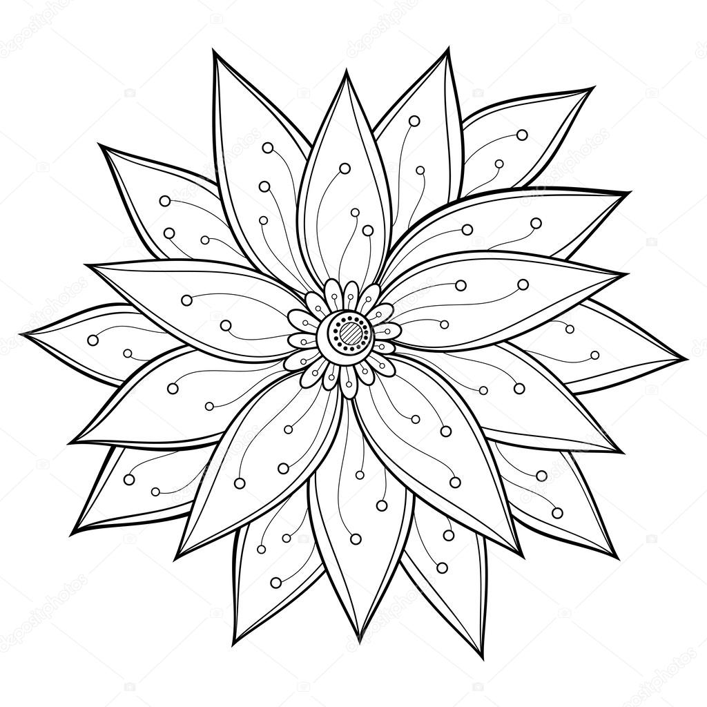 Beautiful Decorative Flower (Vector)