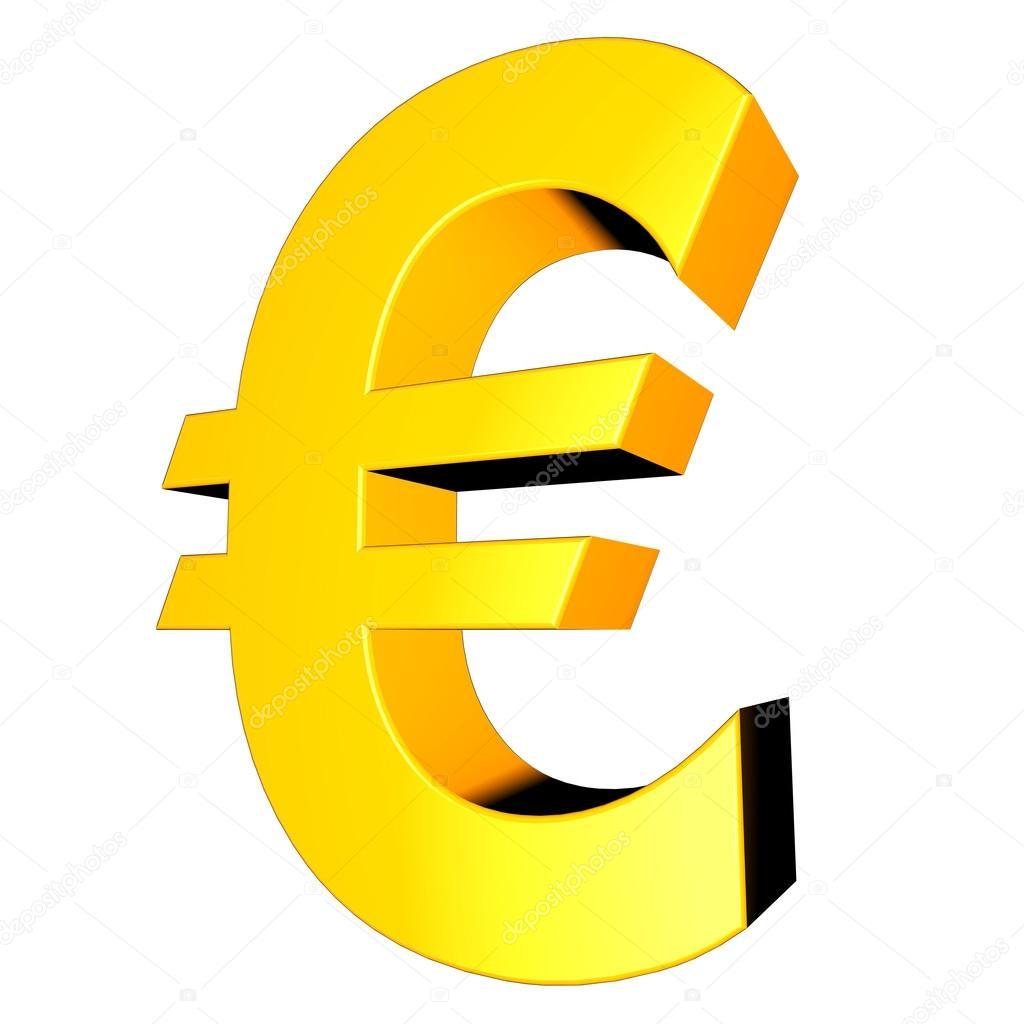 991b80227 3D zbiory znak - euro — Zdjęcie stockowe © Kurtcan #35140899