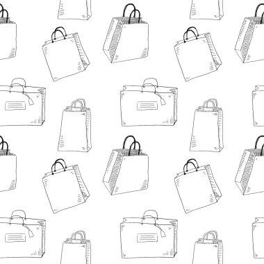 Shopping bags seamless pattern