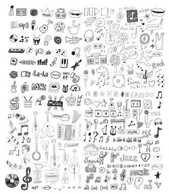 Set of music symbols