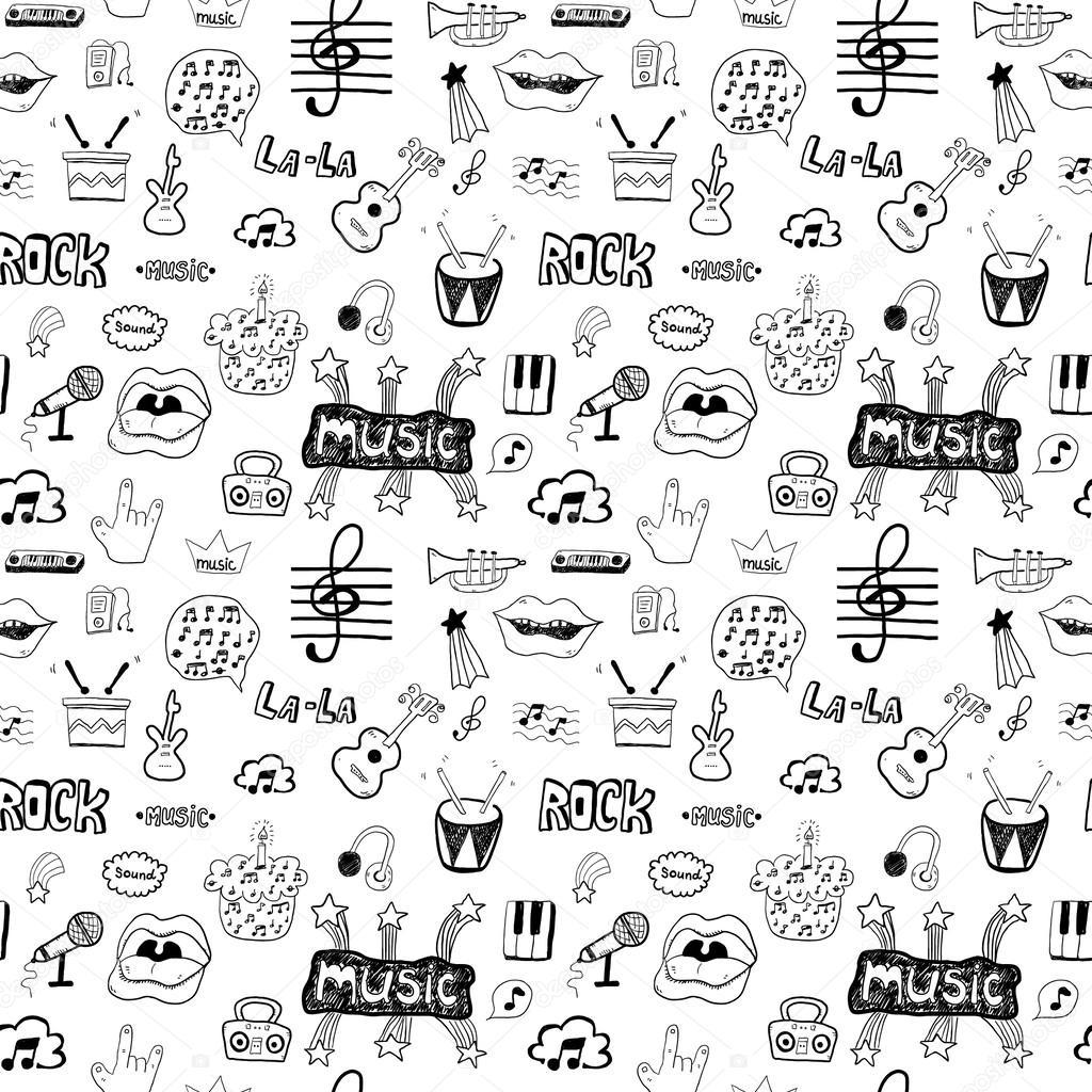 Imágenes: de símbolos musicales   símbolos musicales. patrón sin ...