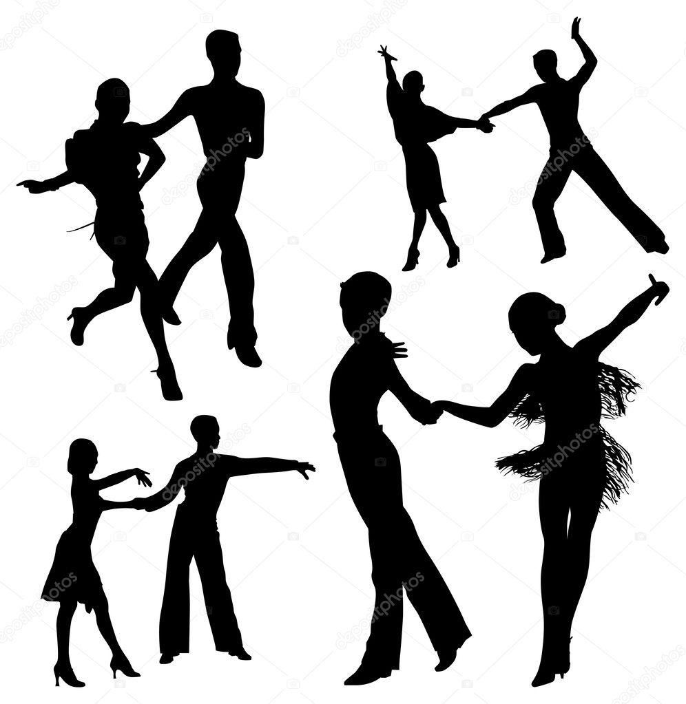 カップルのダンス — ストックベクター © orfeev #51177969
