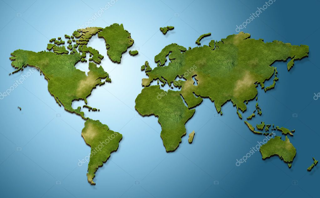 3d world map stock photo erandalx 34894691 3d world map illustration photo by erandalx gumiabroncs Image collections