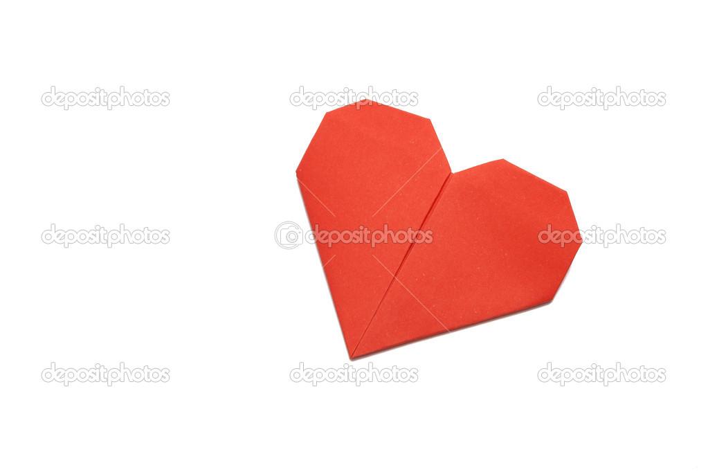 Corazon De Papel De Origami Foto De Stock C Furo Felix 49412573 - Origami-corazn
