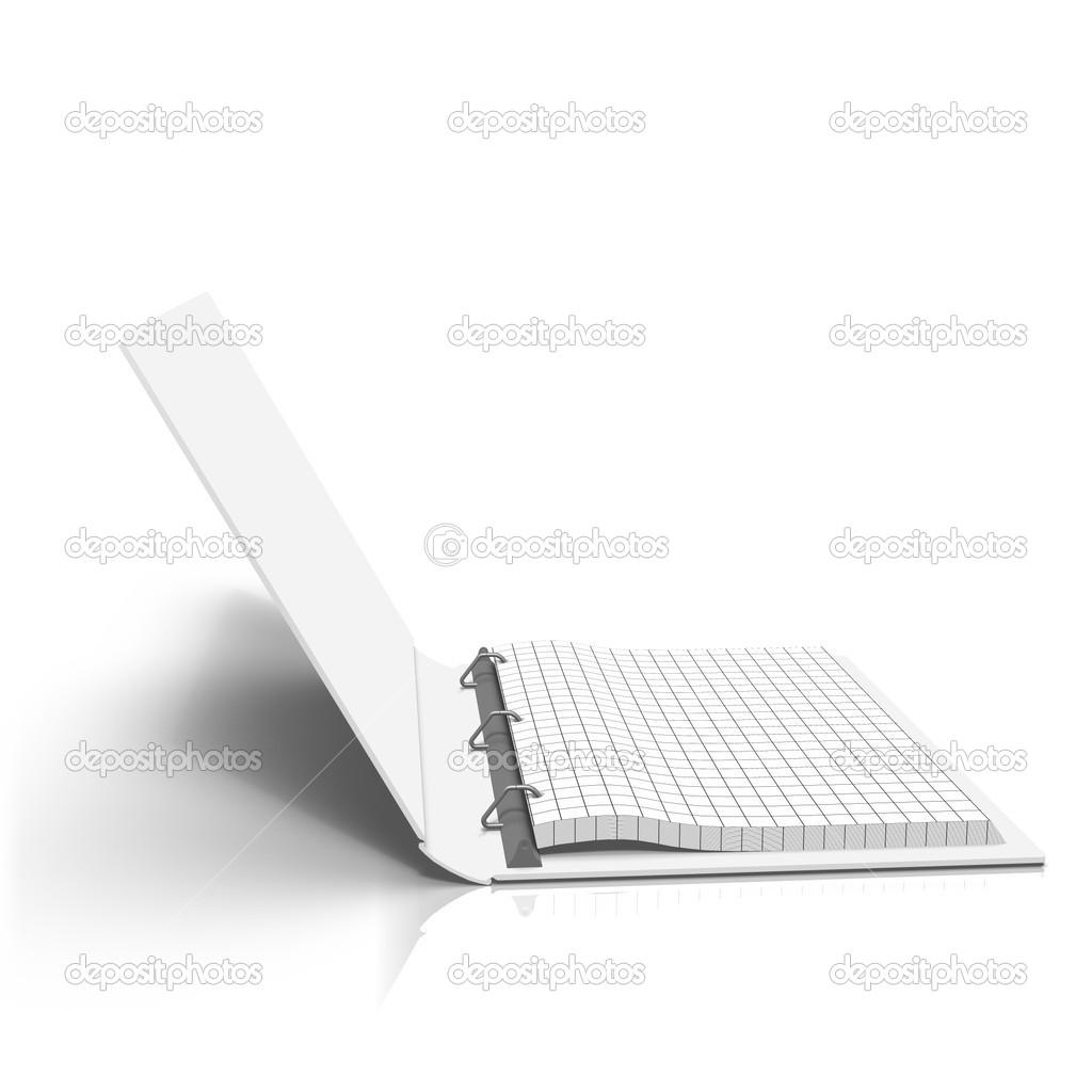 Opened wireframe notation binder — Stock Photo © Pedro_II #34056921