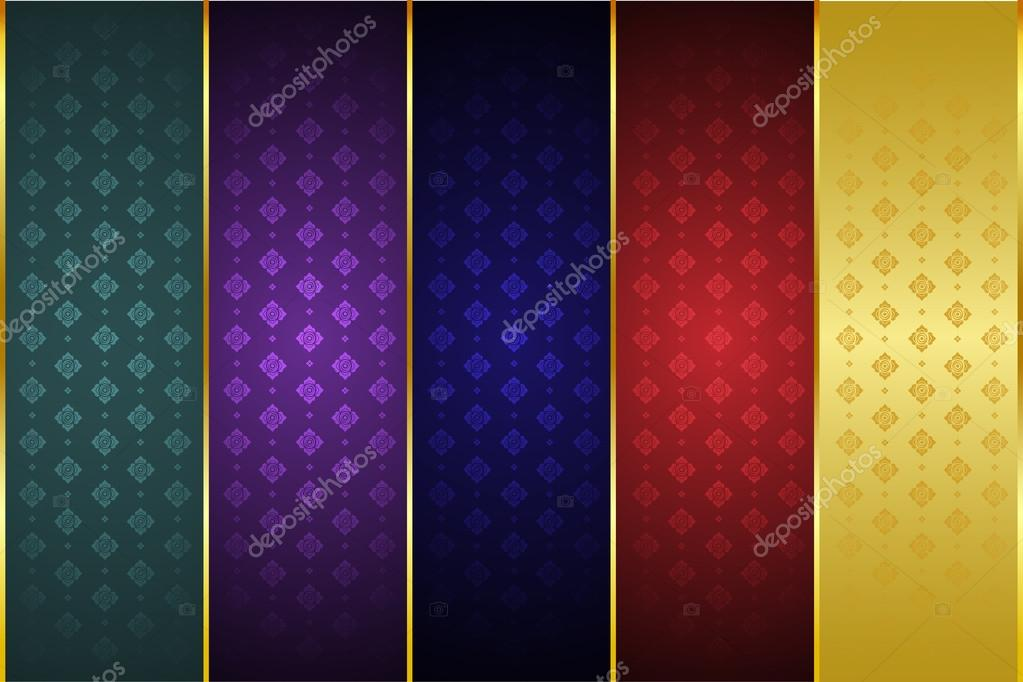 Thai Art Scroll Thai Art Pattern,  Pattern Background Vector