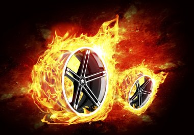Car Alloy Wheels Fire