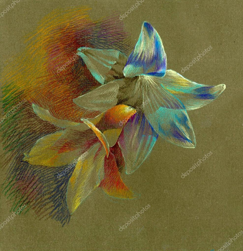 Цветы из тонированной бумаги