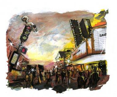 Film festival event illustration