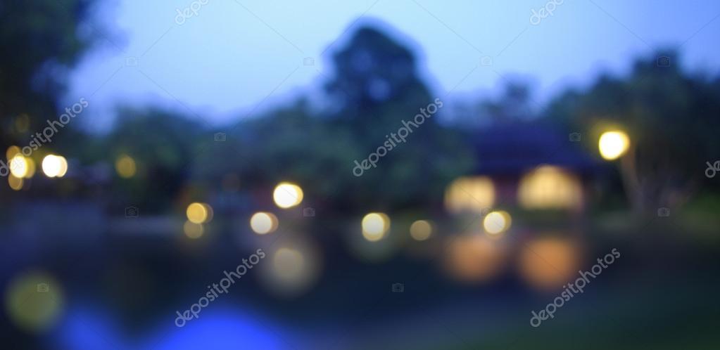Landschaft Beleuchtung Hintergrund Weichzeichnen — Stockfoto ...