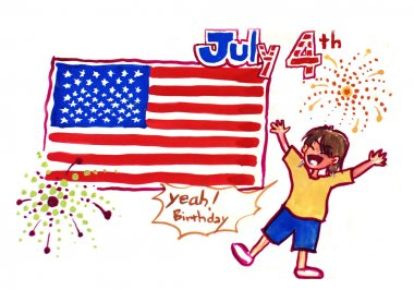 4th of july illustration