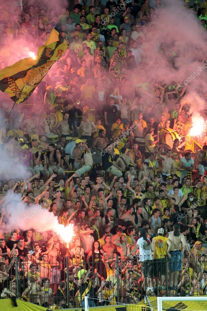 Football match between Aris and Boca Juniors