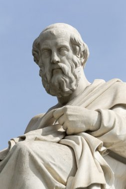 statue of Plato from the Academy of Athens,Greece