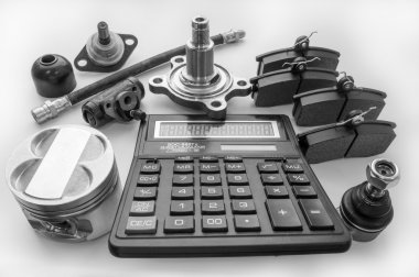 Automobile spare parts and calculator