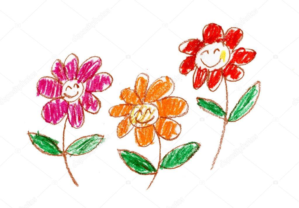Depositphotos Stock Photo Kids Crayon Drawing Pencil Drawings