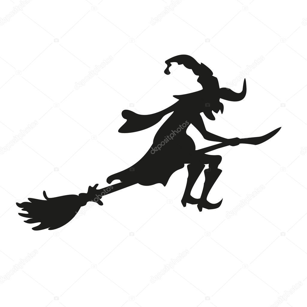 halloween hexe silhouette isoliert stockvektor 34639427. Black Bedroom Furniture Sets. Home Design Ideas