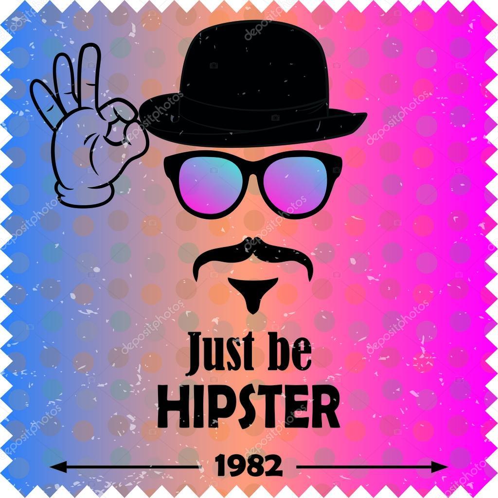 hipster vector background retro vintage label design hipster theme