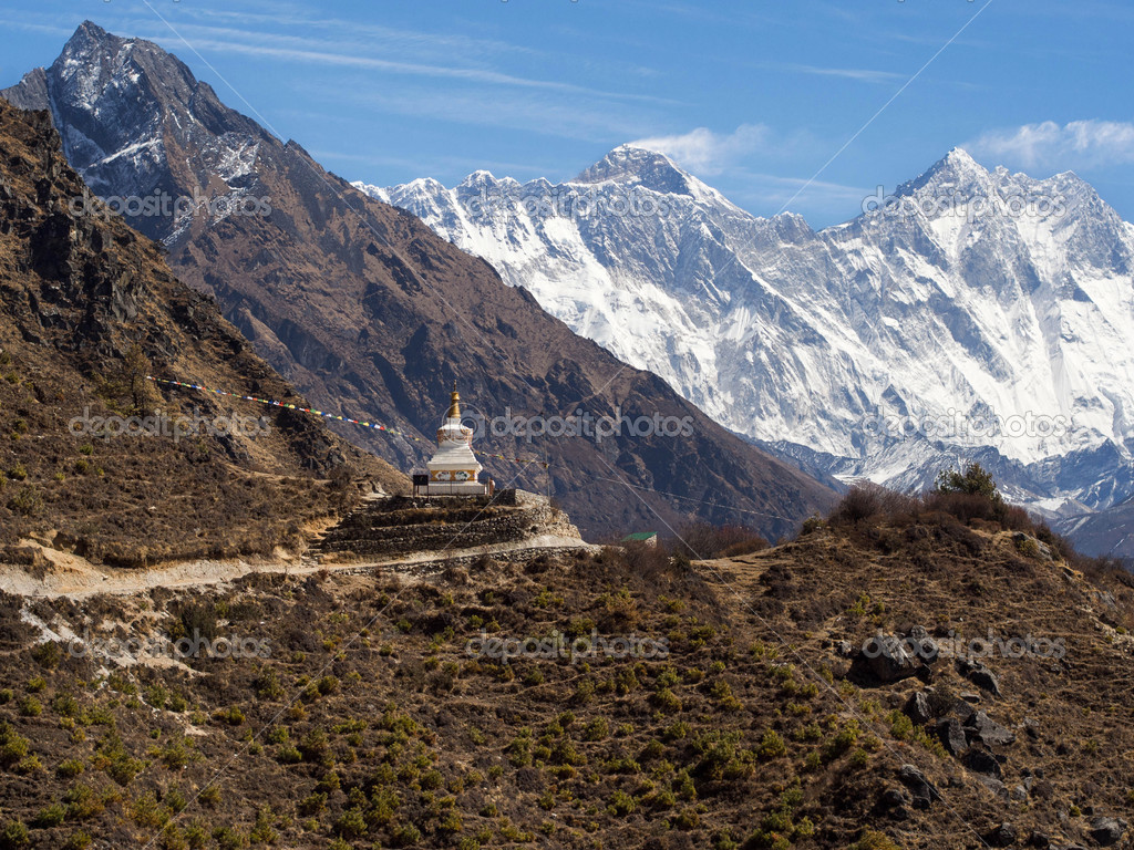 Tibetan Buddhist Stupa on the Everest Base Camp Trek