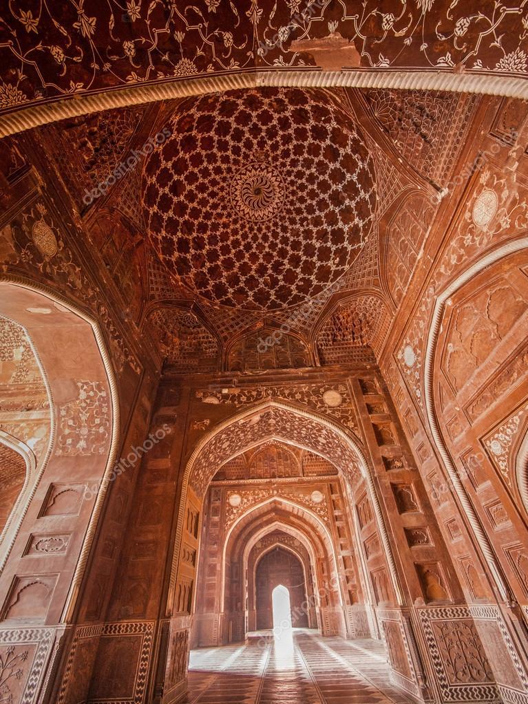 Taj Mahal Mosque Interior U2014 Stock Photo