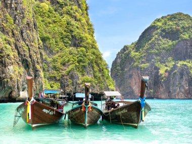 Longtail Boats in Maya Bay, Ko Phi Phi, Thailand