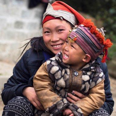 Happy Hmong Woman and Child, Sapa, Vietnam
