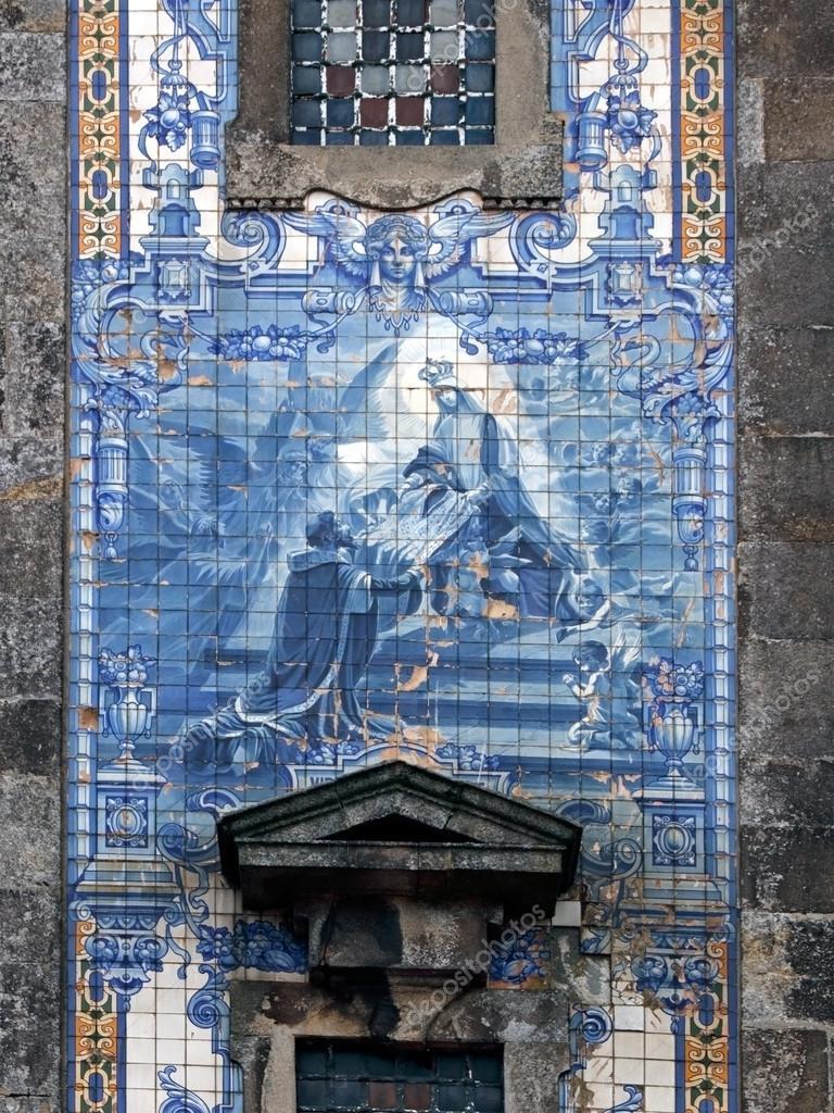 Portuguese traditional religious tiles