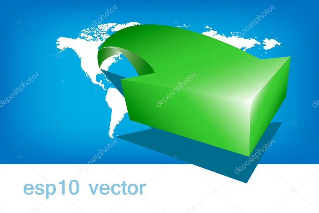 World map arrow green america stock vector wissanu 51422799 world map arrow green america stock vector gumiabroncs Gallery