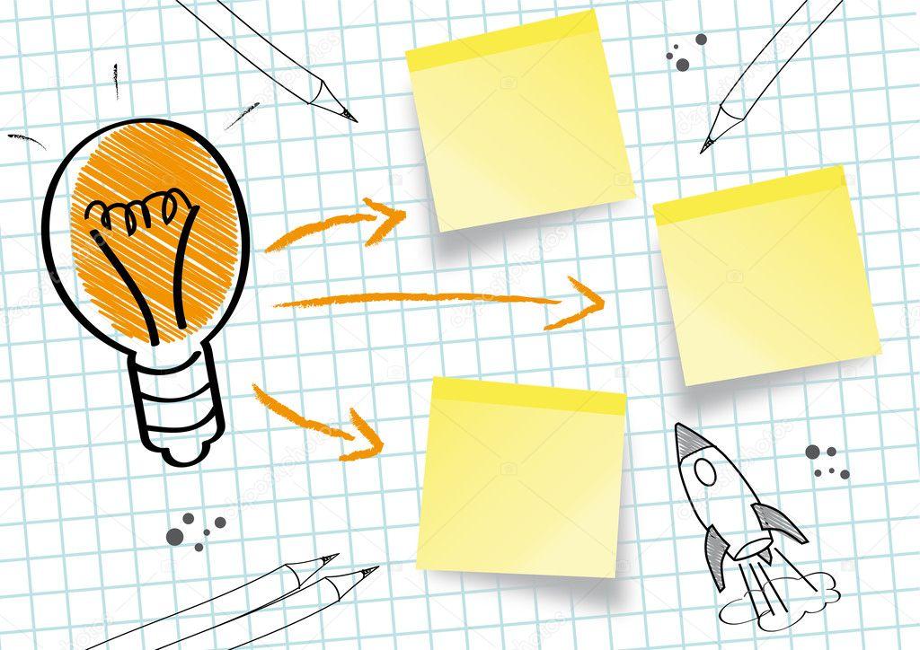 Idea concept idea sketch