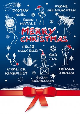 Merry christmas, multilingual