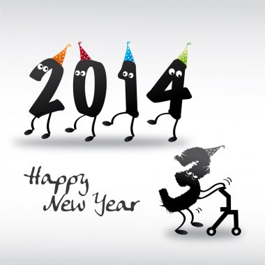2014 Happy New Year Greeting Card, year in and year out