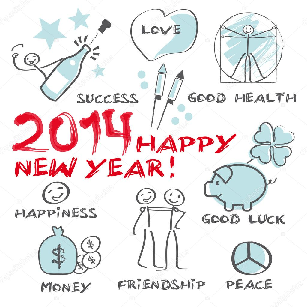 2014 happy new year greeting card stock vector trueffelpix 34571163 2014 happy new year greeting card stock vector m4hsunfo