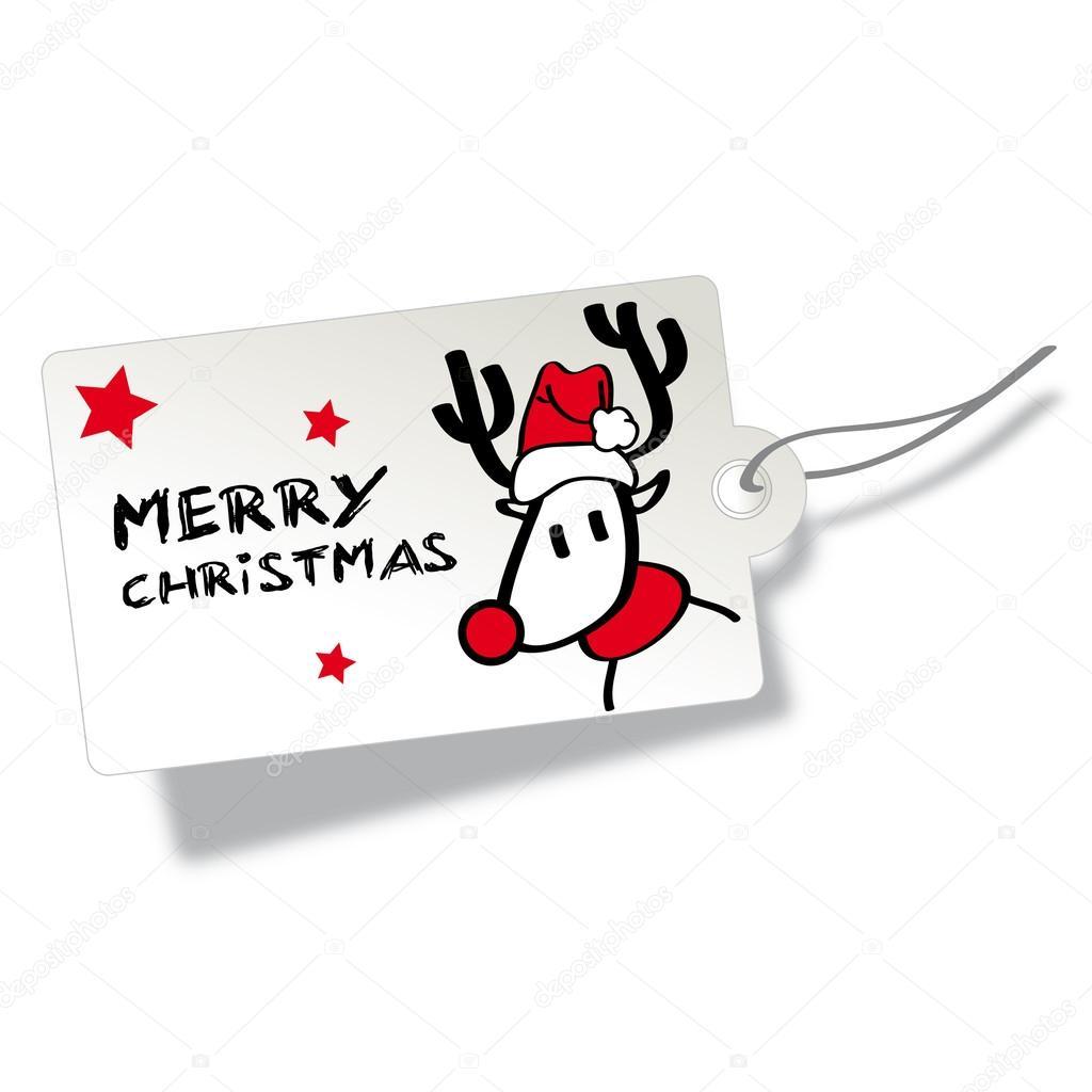 Frohe Weihnachten Anhänger.Frohe Weihnachten Tag Stockvektor Trueffelpix 35007771