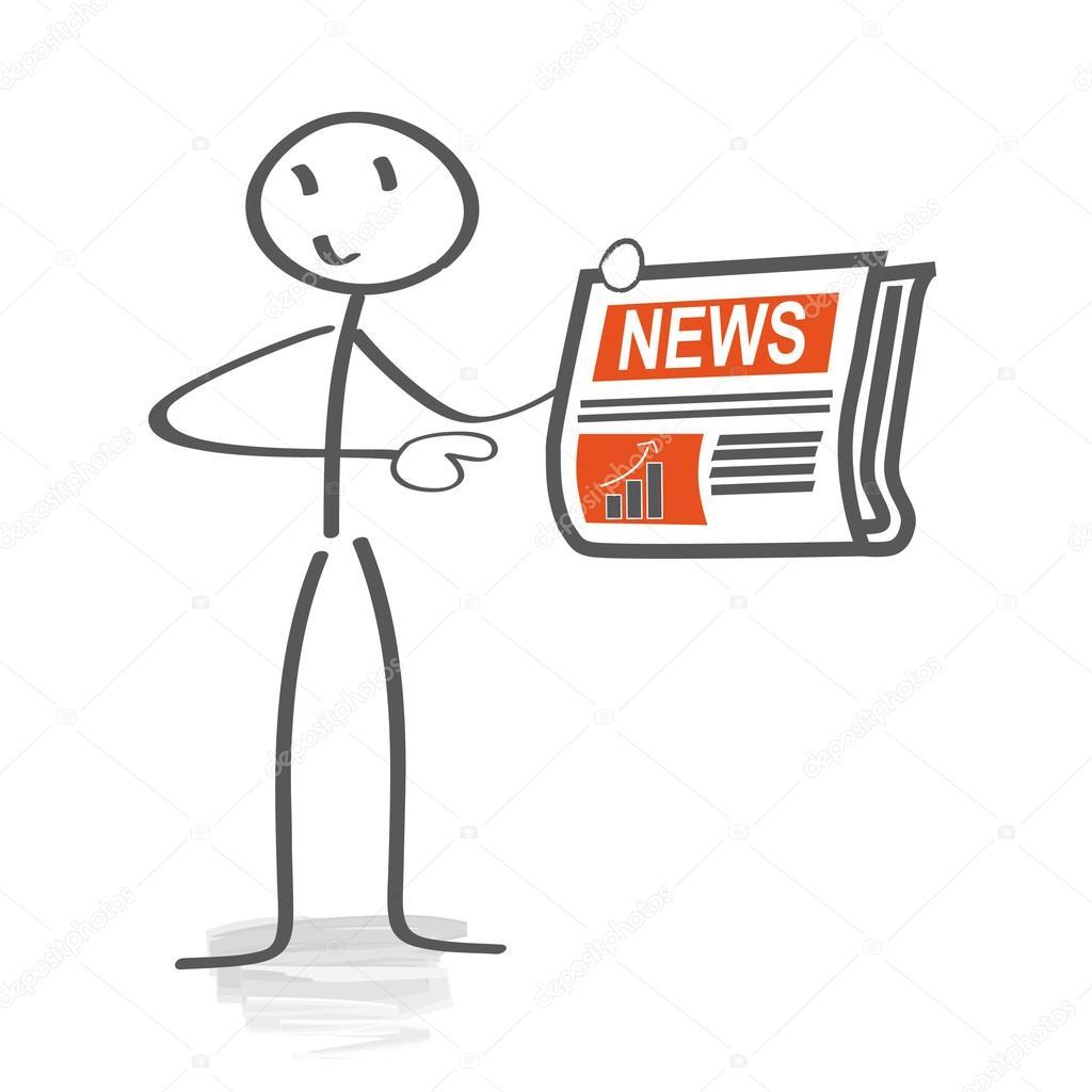 Aktuelle Nachrichten Schlagzeilen Des Tages Stockvektor