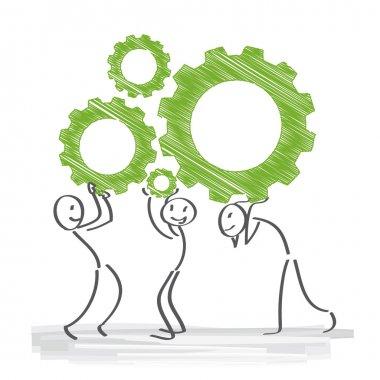Cogwheel, Teamwork