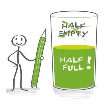 Optimist with half-full glass