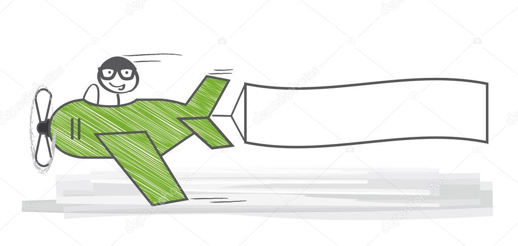 Flugzeug mit poster — Stockvektor © trueffelpix #44448343