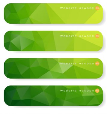 Abstract green banner stock vector