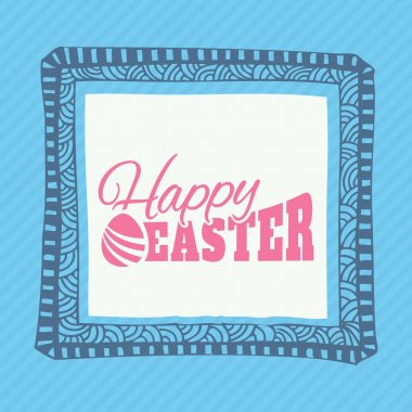 Typographic elements of easter holiday.