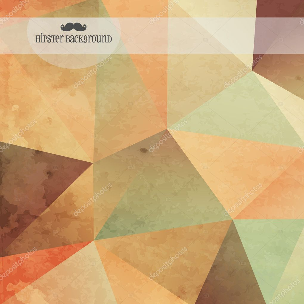 Geometric hipster background