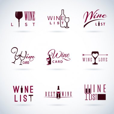 design wine icons for food and drink
