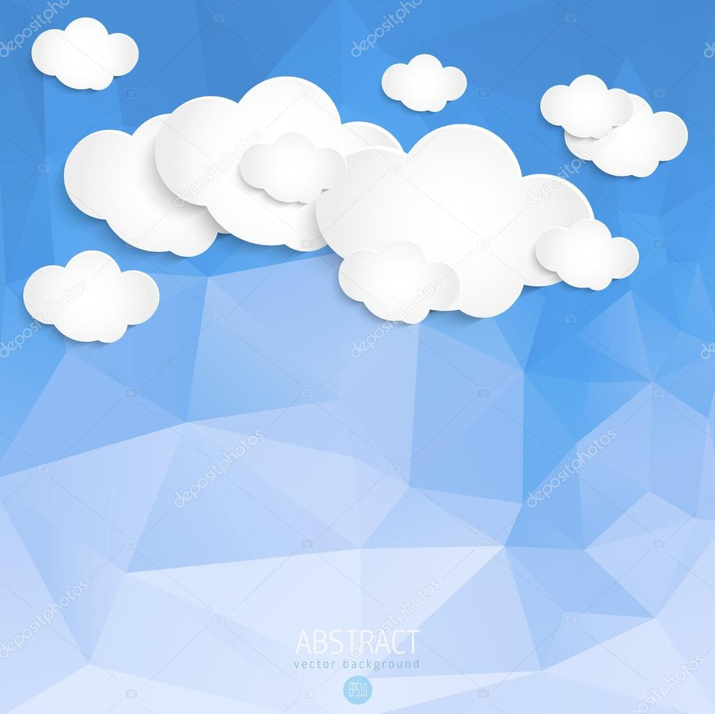 Abstract Clouds with triangle background