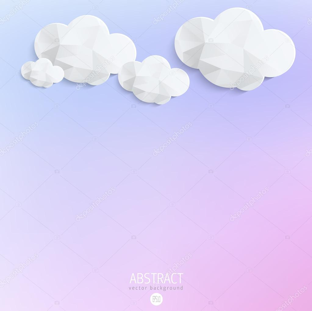 Abstract 3D Paper Clouds