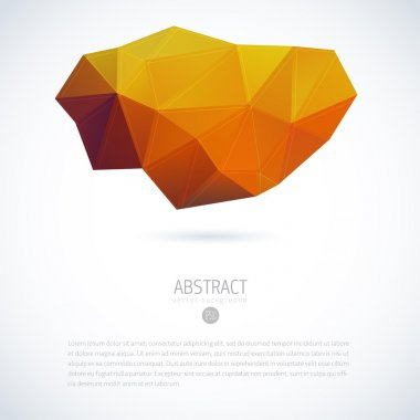 Abstract vector moder background with triangle object