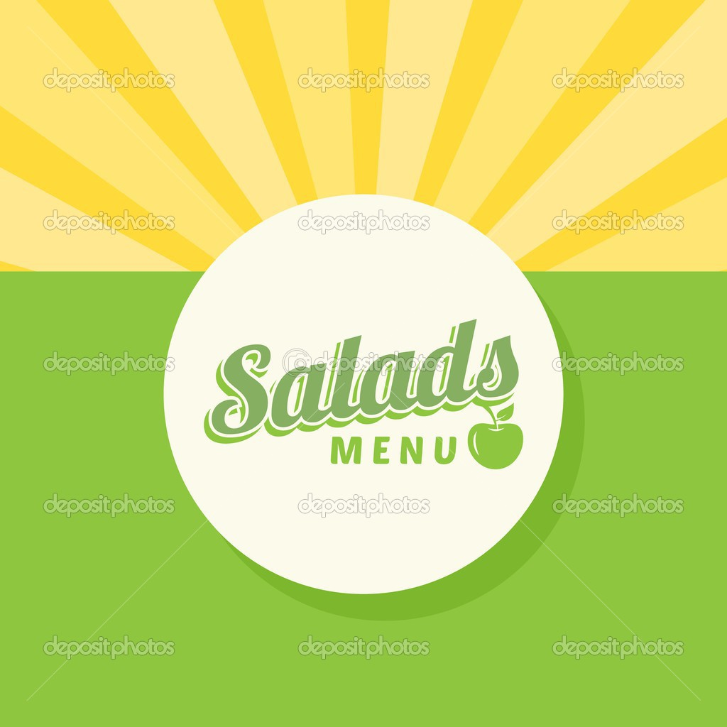 plantilla de diseño de menú de ensalada — Archivo Imágenes ...