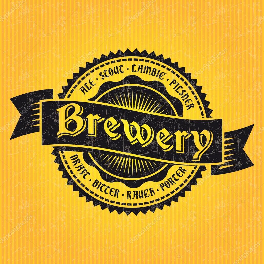 Bier Label-Design-Vorlage — Stockvektor © Antisana #42957763