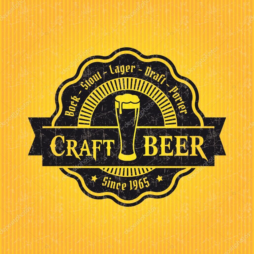 Bier Label-Design-Vorlage — Stockvektor © Antisana #42963333