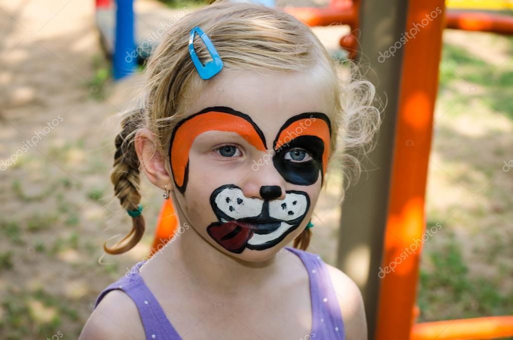 Girl With Face Painting Stock Photo C Katarinagondova 49544093