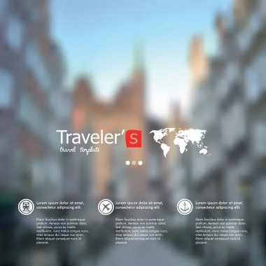 Vector blurred landscape, nature view. City blur unfocused background, web and mobile interface template.