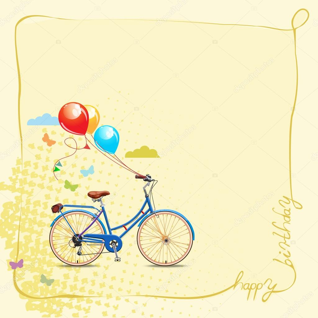 Открытки с днем рождения велосипеды